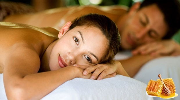 Mel com Amor! Massagem Relaxante para Casal com Mini Facial,  Jacuzzi e Ritual de Chá Afrodisíaco!