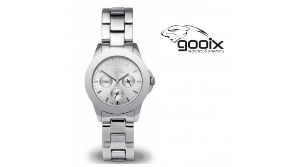 Desconto Black Friday! Relógio Gooix® Adissa Classic Prateado  -  5ATM