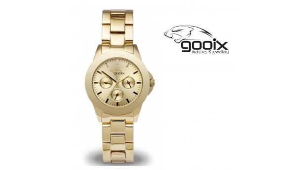 Desconto Black Friday! Relógio Gooix® Adissa Classic Dourado  -  5ATM
