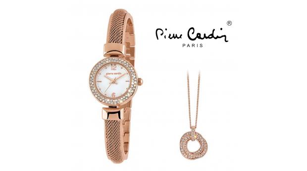 Desconto Black Friday! Conjunto Pierre Cardin®  Classic Charm Rose Gold  -  Relógio  -  Colar