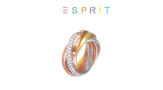 Desconto Black Friday! Esprit® Anel Multicolor com Cristais  -  19mm