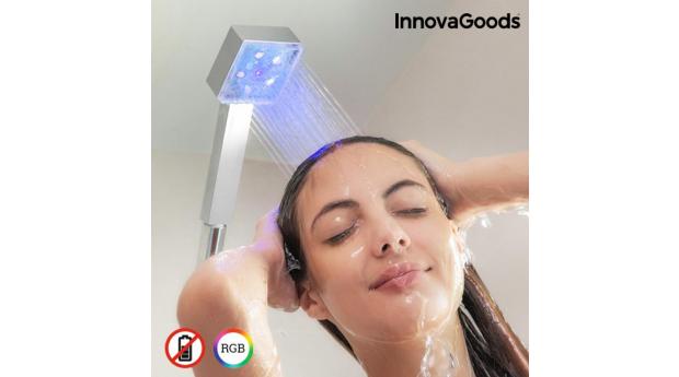 Desconto Black Friday! Eco-chuveiro LED com Sensor de Temperatura Square InnovaGoods