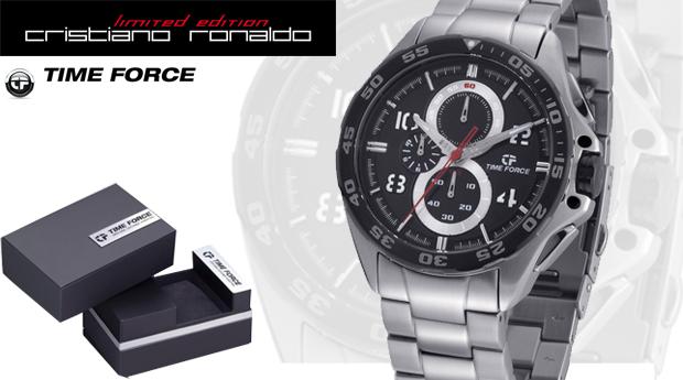 Relógio Time Force em Aço com Cronógrafo 'Cristiano Ronaldo Collection'! (Portes Grátis)