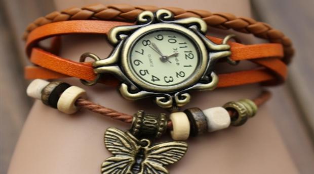 Relógio de Pulso Estilo Retro '12068 Dark Brown'! (Portes Grátis)