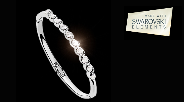 Pulseira Crystal Solitaire  by Swarovski Elements! (Portes Grátis)
