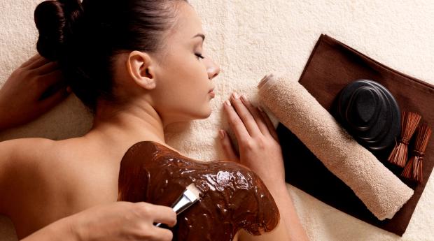 Relaxa com Sabor a Chocolate! Massagem e Esfoliação Corporal com Chocolate!