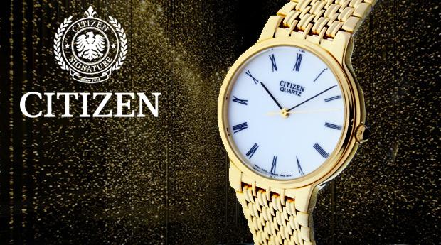 Relógio Citizen Banhado a Ouro! (Portes Incluídos)