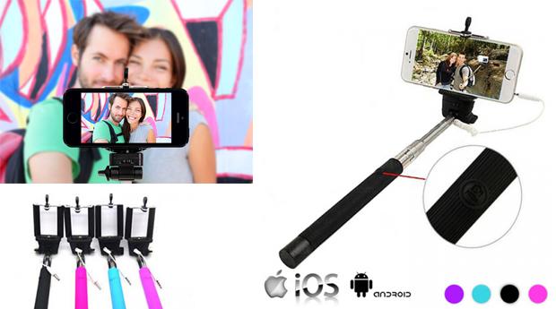 Braço Extensível para Selfies para Android e IOS! (Portes Incluídos)