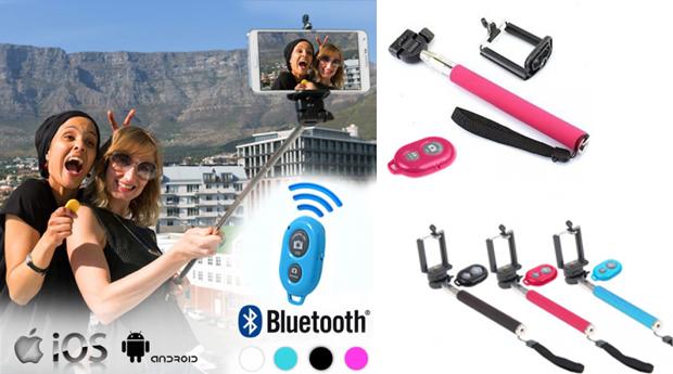 Braço Extensível para Selfies com Comando e Bluetooth! (Portes Incluídos)