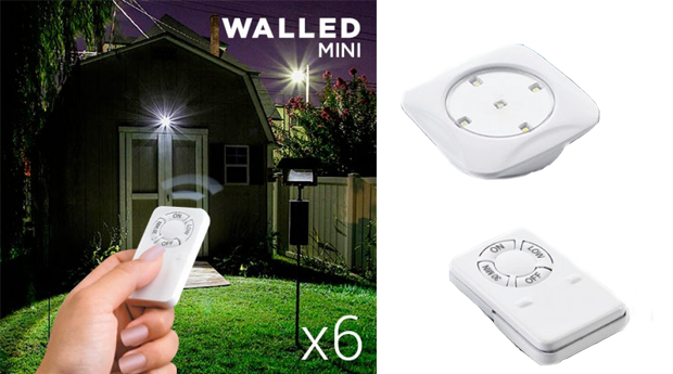 Conjunto de 6 Luzes LED Walled Mini com Comando!
