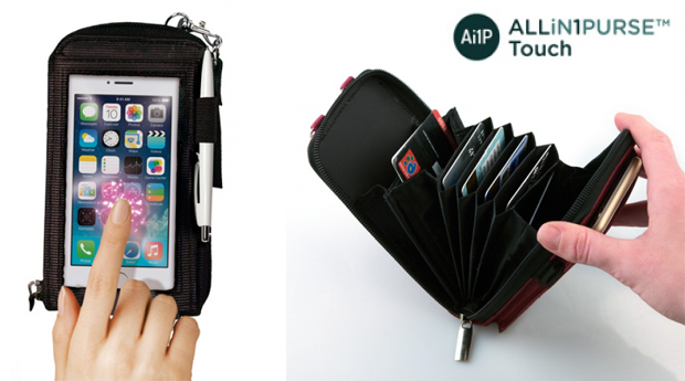 Carteira com Compartimento para Telemóvel All In 1 Purse Touch!