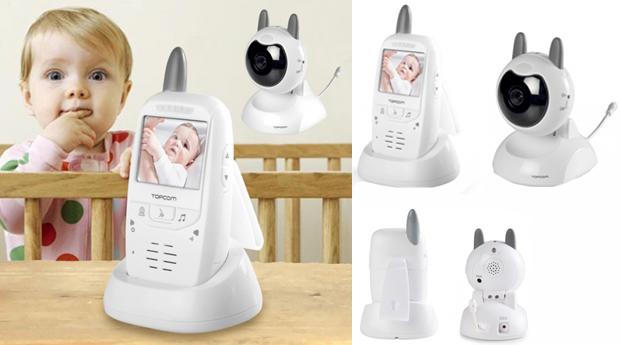 Monitor de Vigilância para Bebés com Câmara TopCom!