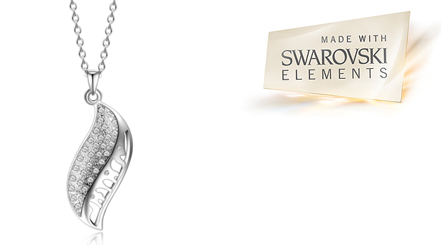 Colar Swink Whirl com Cristais Swarovski Elements! (Portes Incluídos)