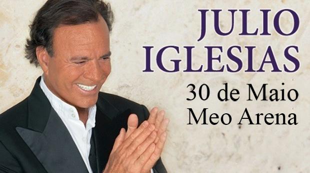 Júlio Iglesias em Lisboa -  1 Noite em Hotel 4* ou 3*, Entrada Concerto e Espectáculo de Fados!