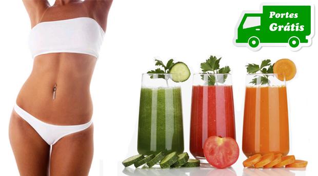 Novo Preço, Emagrece 5 Kg em 8 Dias! Sumos Detox Magic Juice 100% Saudáveis, Clinicamente Comprovado!