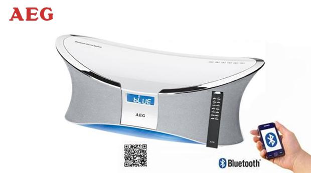 Coluna Stereo Bluetooth da AEG !