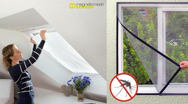 Conjunto de 3, 4, 6 ou 8 Telas Protectoras de Insectos e Mosquitos para Janela!