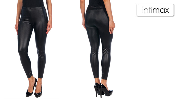 Leggings de Senhora Intimax Black Vinyl!