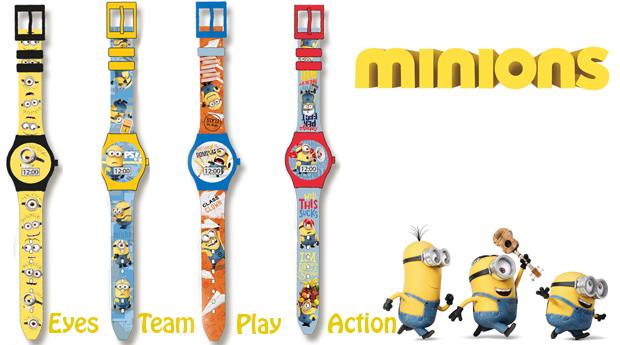 Relógios Digitais de Crianças dos Minions!
