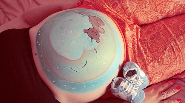 Belly Painting - Pintura em Barriga de Grávida! Eterniza o Momento!