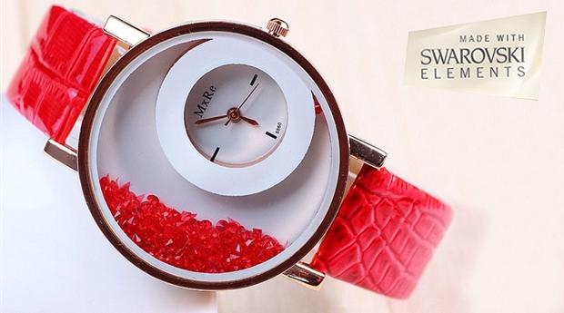 Relógio 'Smasher' com Cristais Swarovski Elements, 6 Cores Dísponiveis! (Portes Incluídos)
