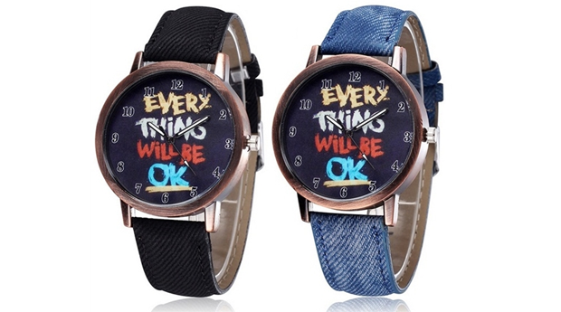 Relógios Denim Jeans Azul e Preto! (Portes Incluídos)