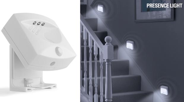 Luz de Presença LED com Sensor de Movimento!