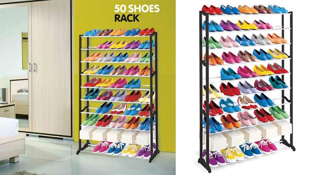 1 ou 2 Sapateiras para 50 Pares de Sapatos 'Shoe Rack'!