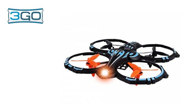 Drone Cuadricóptero Hellcat 3Go! Dimensões: 18 x 19 cm!