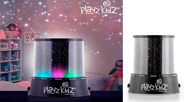 Candeeiro com Luz LED e Projector de Estrelas PLAYZ KIDZ!