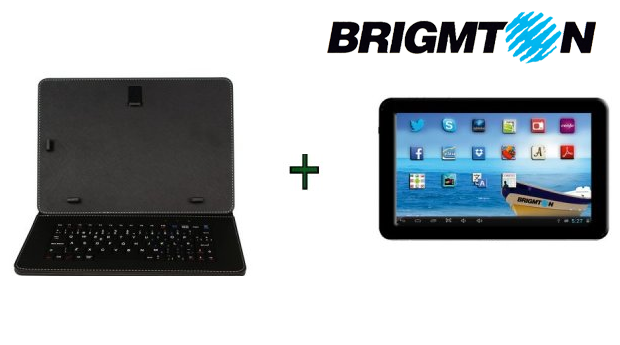 Tablet Brigmton Quadcore 9 com Kit de Capa e Teclado!