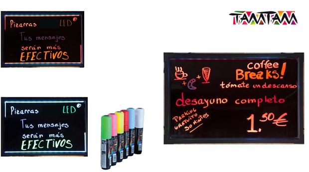 Ardósia para Mensagens LED com Marcadores!