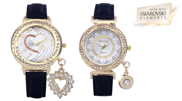 Relógios Heart and Kimseng com cristais Swarovski Elements! (Portes Incluídos)