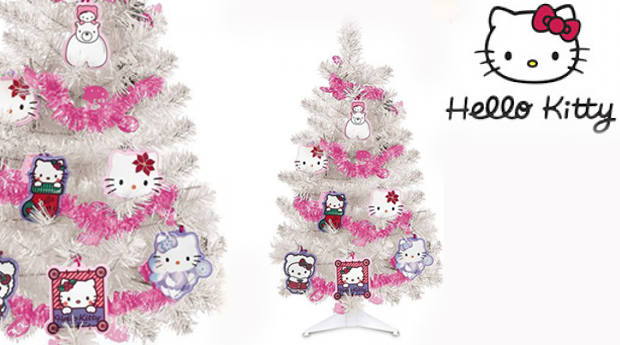 Árvore de Natal Decorada Hello Kitty!