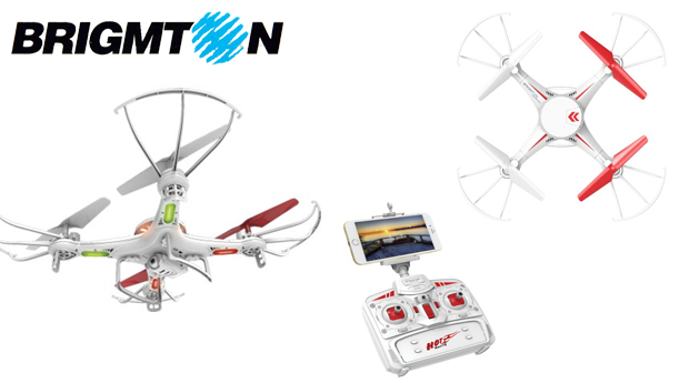 Drone Brigmton com Câmara HD e Wi-Fi!