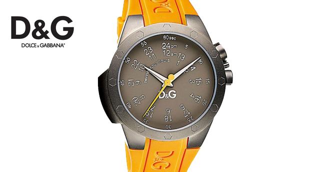 Relógio D&G Analógico - Caixa em Aço Inoxidável Cinza de 44 milímetros