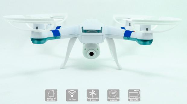 Drone com Câmara HD, Tracking, Giroscópio de 6 Eixos e Rotação 360º!