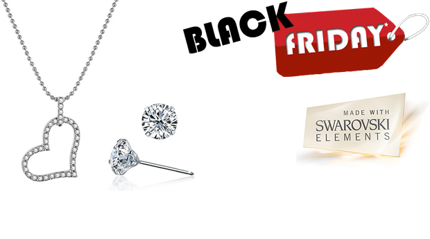 SUPER BLACK FRIDAY! Conjunto Colar e Brincos Heart Desire com Cristais Swarovski Elements! (Portes Incluídos)