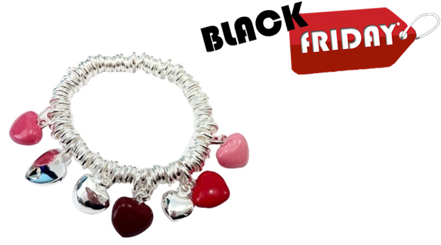 SUPER BLACK FRIDAY! Pulseira Multi Hearts! (Portes Incluídos)