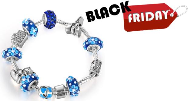 SUPER BLACK FRIDAY! Pulseira Charm Life Blue! (Portes Incluídos)