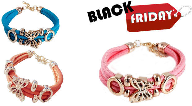 SUPER BLACK FRIDAY! Pulseira Butterfly! (Portes Incluídos)