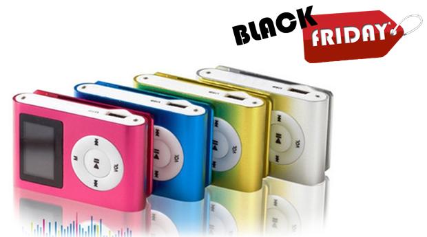 SUPER BLACK FRIDAY! Mini MP3 com Cartão de memória 8 GB, Ecrã LCD e Rádio FM! Disponível em 5 Cores!