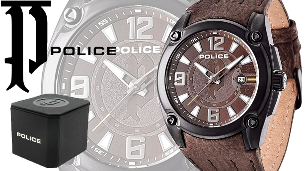 Relógio de Homem Police® Adventure Brown! (Portes Incluídos)