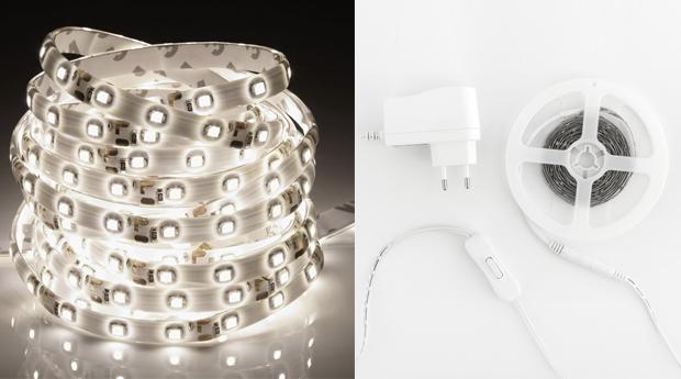 Fitas Adesivas de Luzes LED Brancas! 90 ou 150 Luzes!