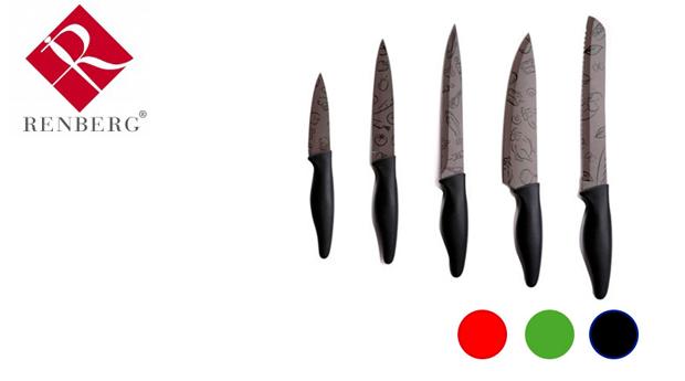 Conjunto de Facas 5 Peças em Aço Inoxidável da Renberg!