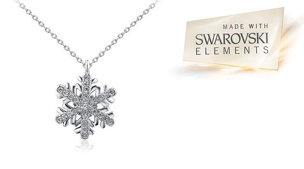 Colar Snowflake com Cristais Swarovski Elements! (Portes Incluídos)