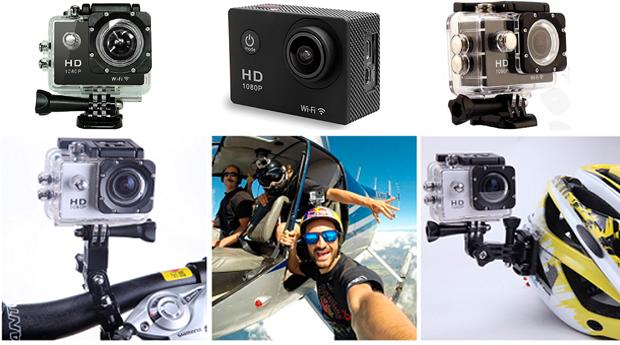 Câmara HD 72 dpi, 1080p e 12Mpx à Prova de Água!