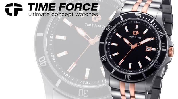 Relógio de Homem Time Force em Aço Inoxidável! (Portes Incluídos)
