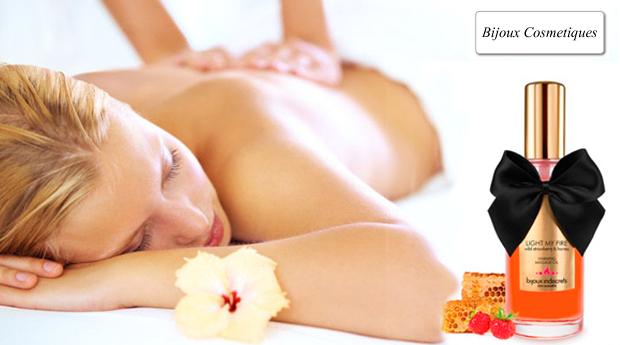 Óleo de Massagem Bijoux Indiscrets®, Efeito Quente de Frutos Silvestres e Mel!