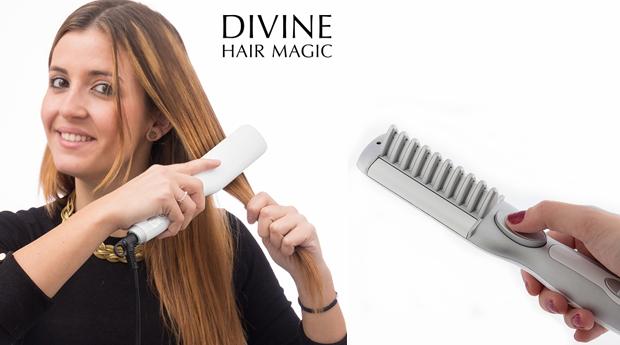 Escova Elétrica de Alisamento Divine Hair Magic!